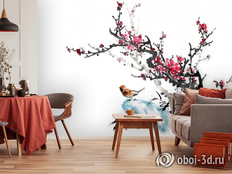3D Фотообои  «Японские мотивы: Сакура»  вид 4