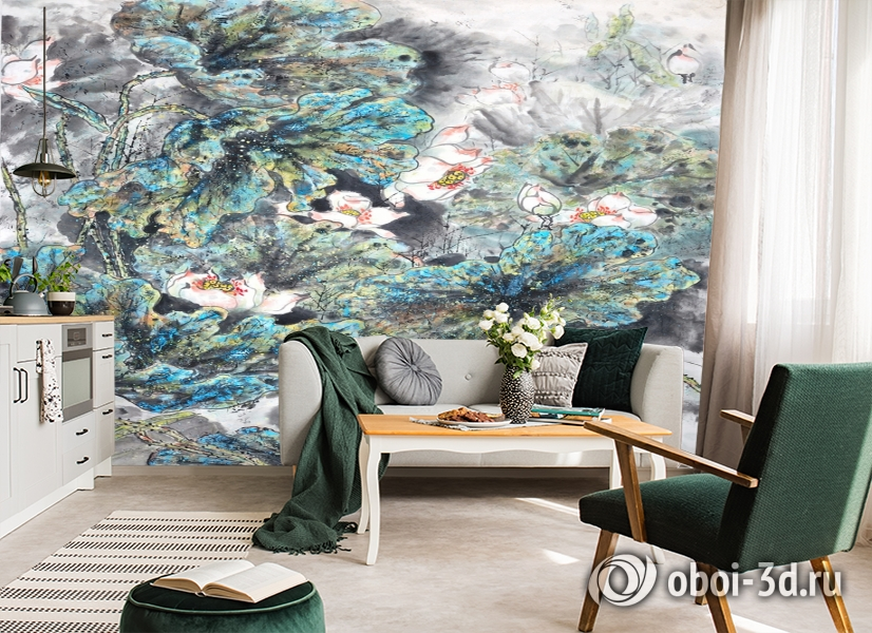 3D Фотообои  «Японские мотивы: Цветы»  вид 6