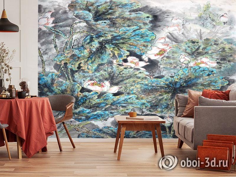 3D Фотообои  «Японские мотивы: Цветы»  вид 4