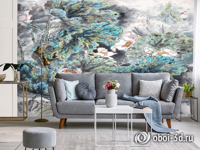 3D Фотообои  «Японские мотивы: Цветы»  вид 3