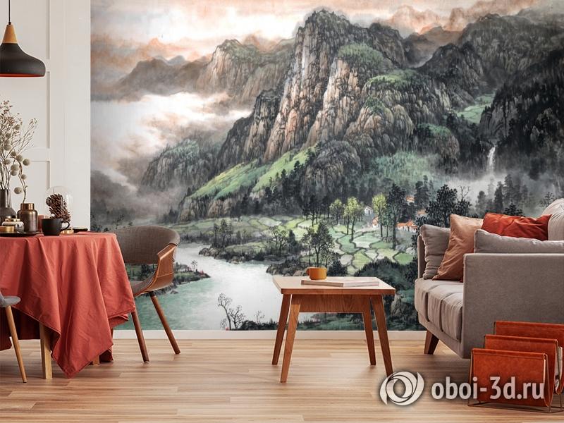 3D Фотообои  «Горы»  вид 4