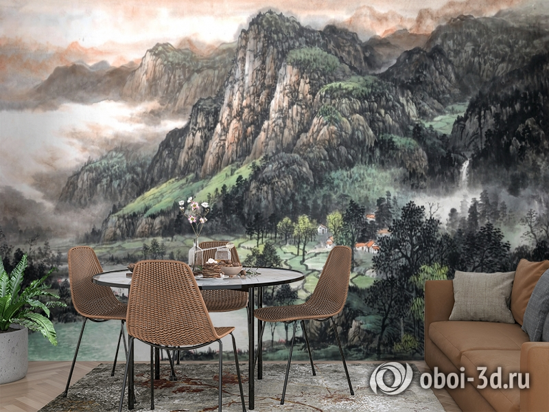 3D Фотообои  «Горы»  вид 2