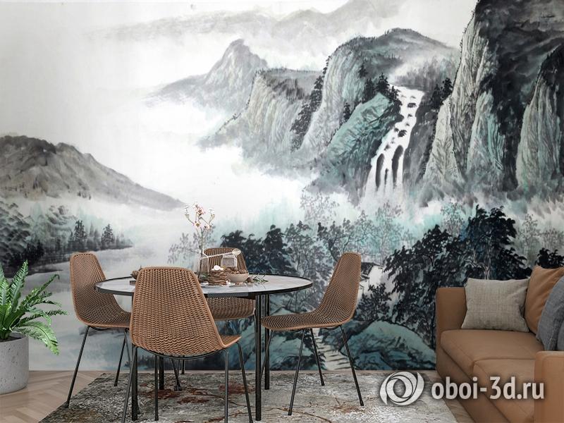 3D Фотообои  «Японские мотивы: Горы»  вид 2