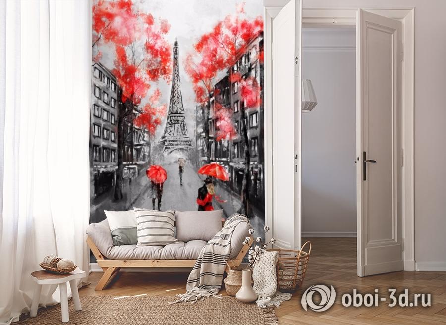 3D Фотообои «Париж - город любви» вид 8