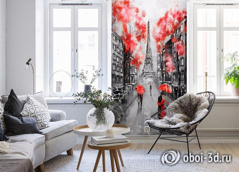 3D Фотообои «Париж - город любви» вид 4