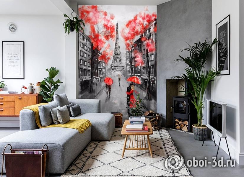 3D Фотообои «Париж - город любви» вид 2