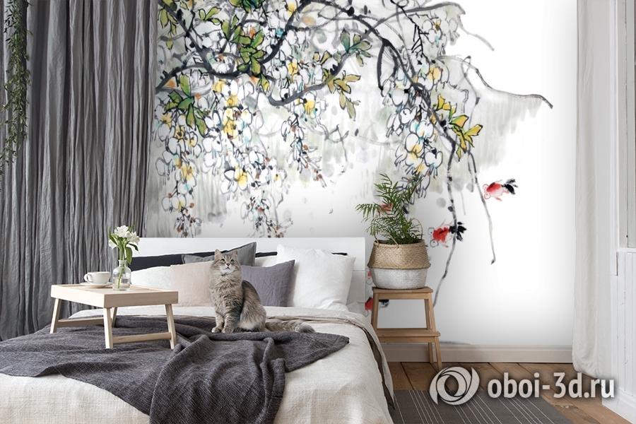 3D Фотообои  «Японские мотивы: Цветущее дерево»  вид 7