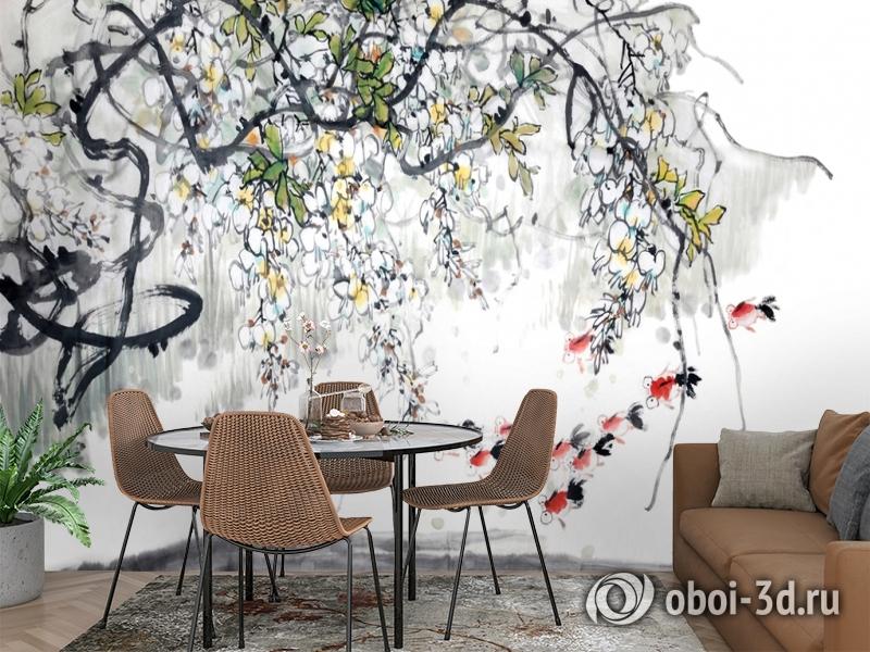 3D Фотообои  «Японские мотивы: Цветущее дерево»  вид 2