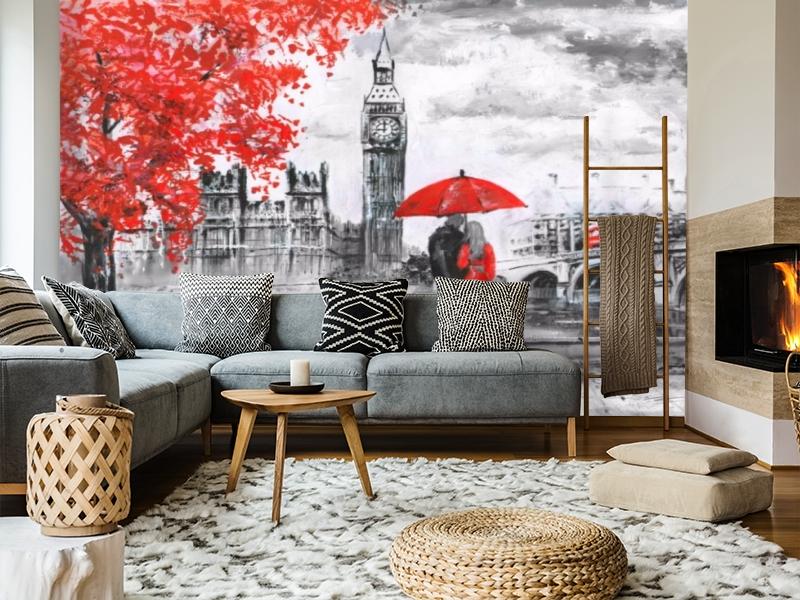 3D Фотообои «Романтика Лондона» вид 5