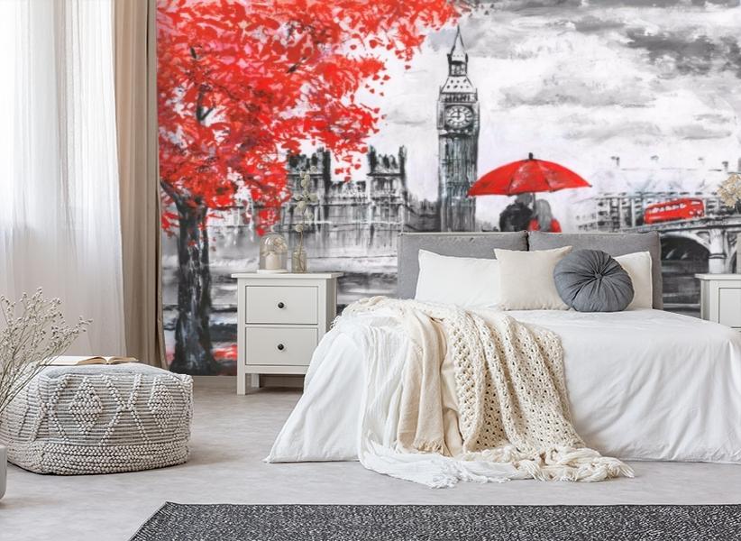 3D Фотообои «Романтика Лондона» вид 4