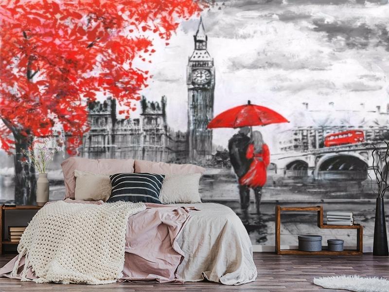 3D Фотообои «Романтика Лондона» вид 3