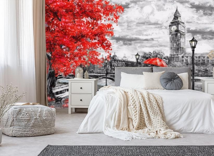 3D Фотообои «Романтичный осенний Лондон» вид 4