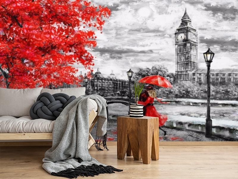 3D Фотообои «Романтичный осенний Лондон» вид 2