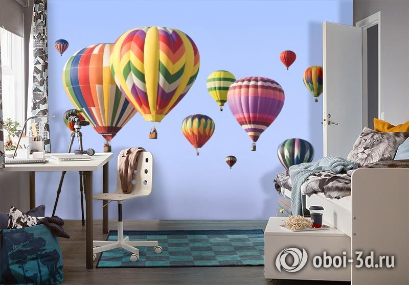 3D Фотообои  «Воздушные шары»  вид 4