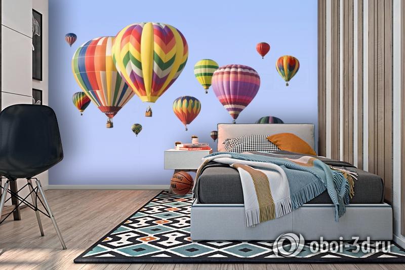 3D Фотообои  «Воздушные шары»  вид 2
