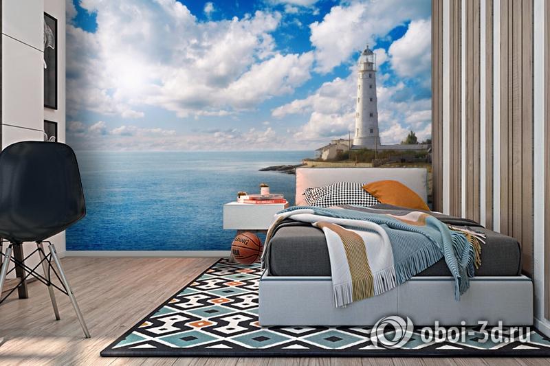 3D Фотообои  «С маяком»  вид 2
