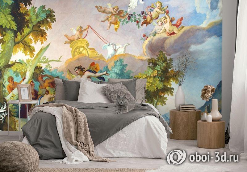 3D Фотообои  «Ангелы в небе»  вид 2
