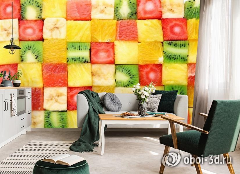3D Фотообои «Сочные фруктовые кубики» вид 7