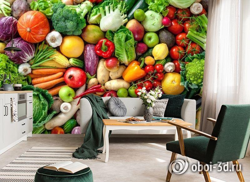 3D Фотообои «Фруктово-овощное изобилие» вид 7