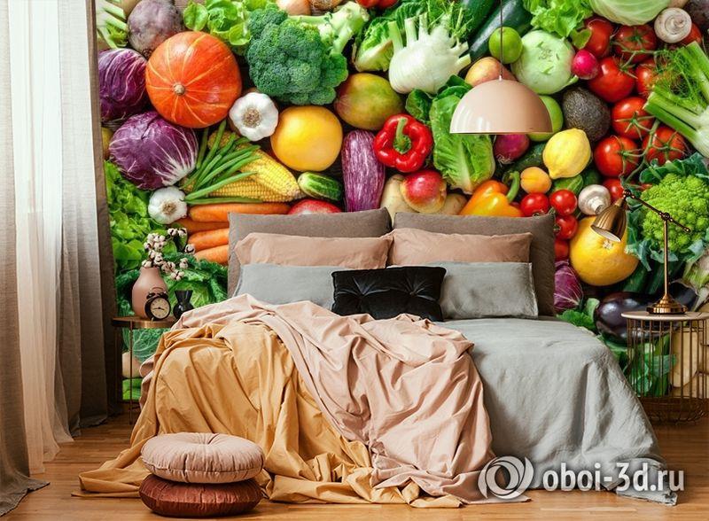 3D Фотообои «Фруктово-овощное изобилие» вид 5