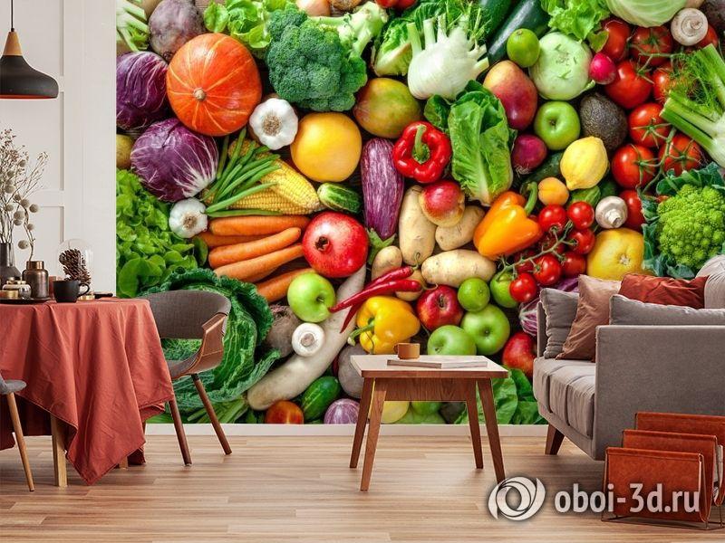3D Фотообои «Фруктово-овощное изобилие» вид 4