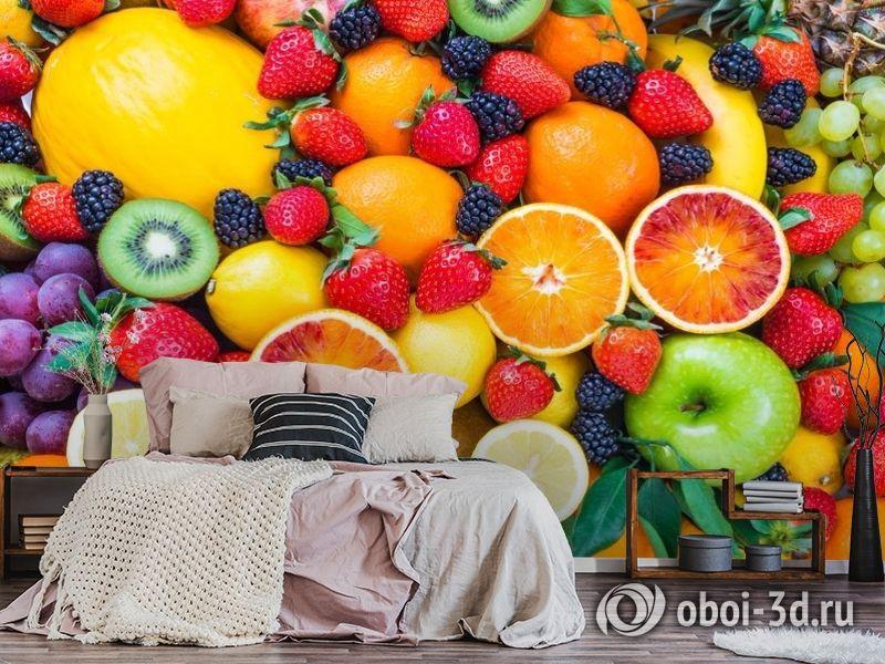 3D Фотообои «Цитрусы с ягодами» вид 6