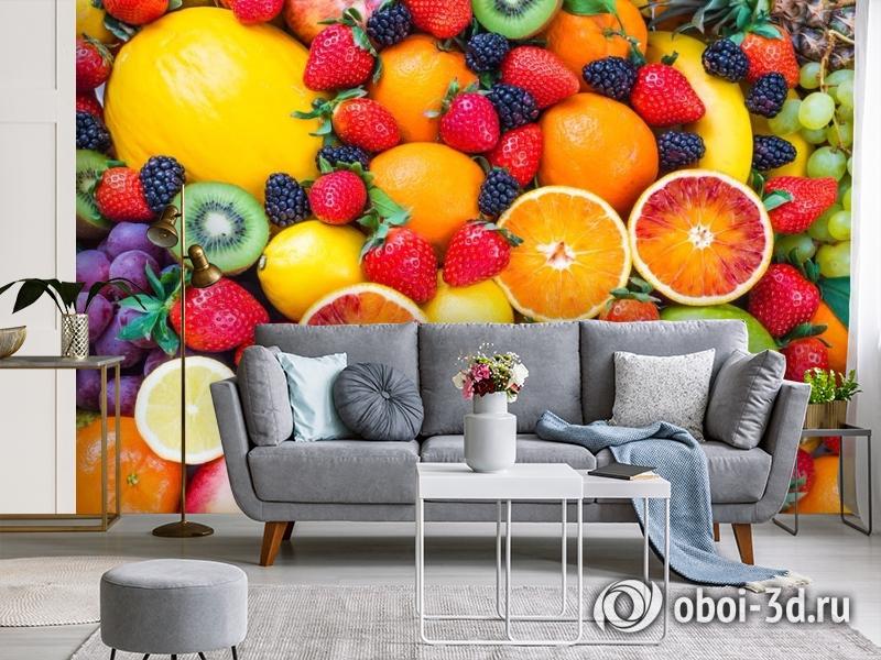 3D Фотообои «Цитрусы с ягодами» вид 3