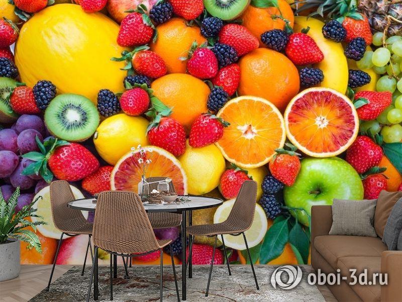 3D Фотообои «Цитрусы с ягодами» вид 2