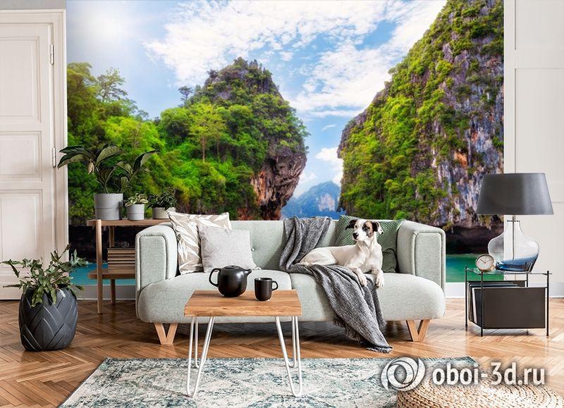 3D Фотообои  «Горы и море»  вид 7