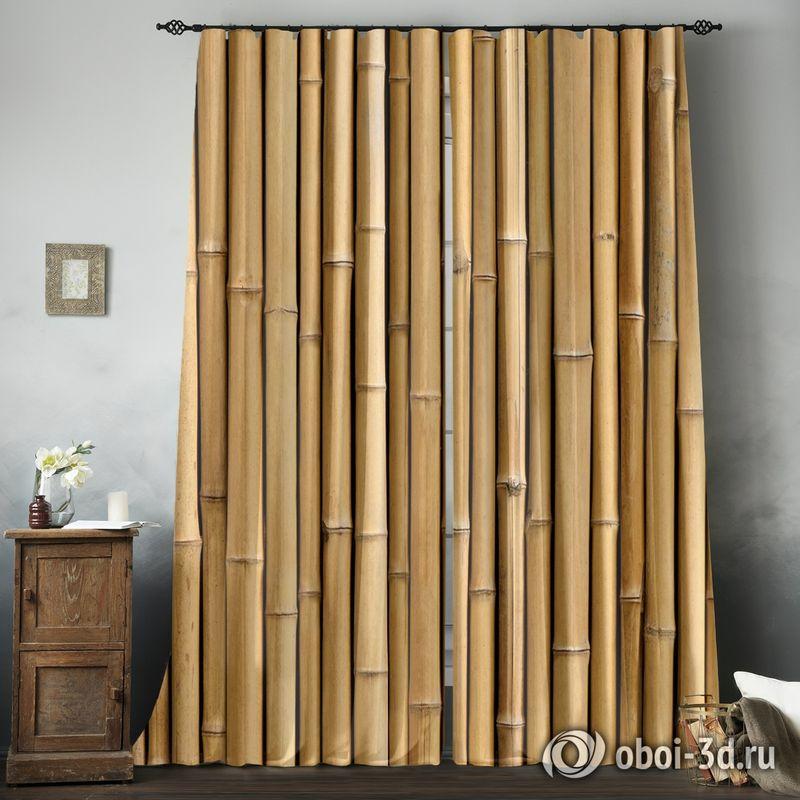 Фотошторы «Бамбуковая стена» вид 8