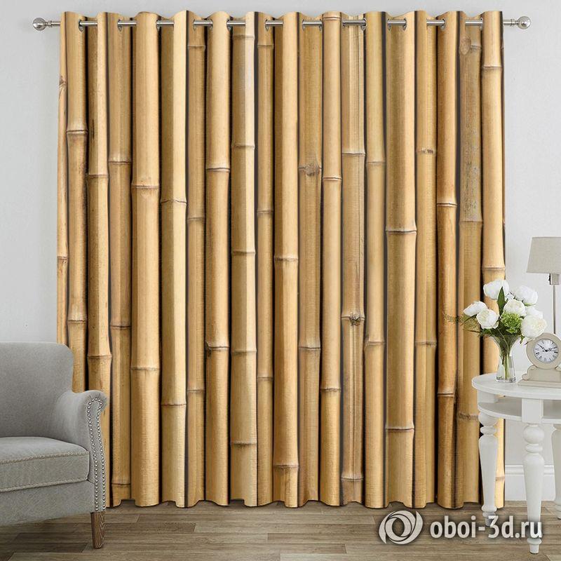 Фотошторы «Бамбуковая стена» вид 7