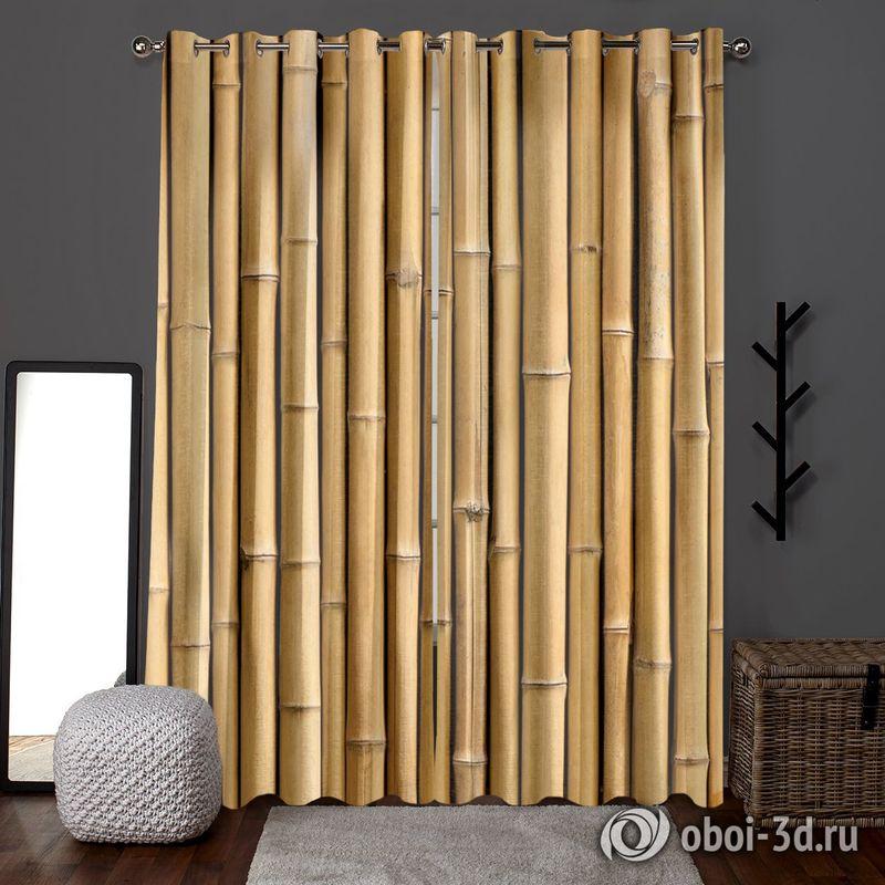 Фотошторы «Бамбуковая стена» вид 6