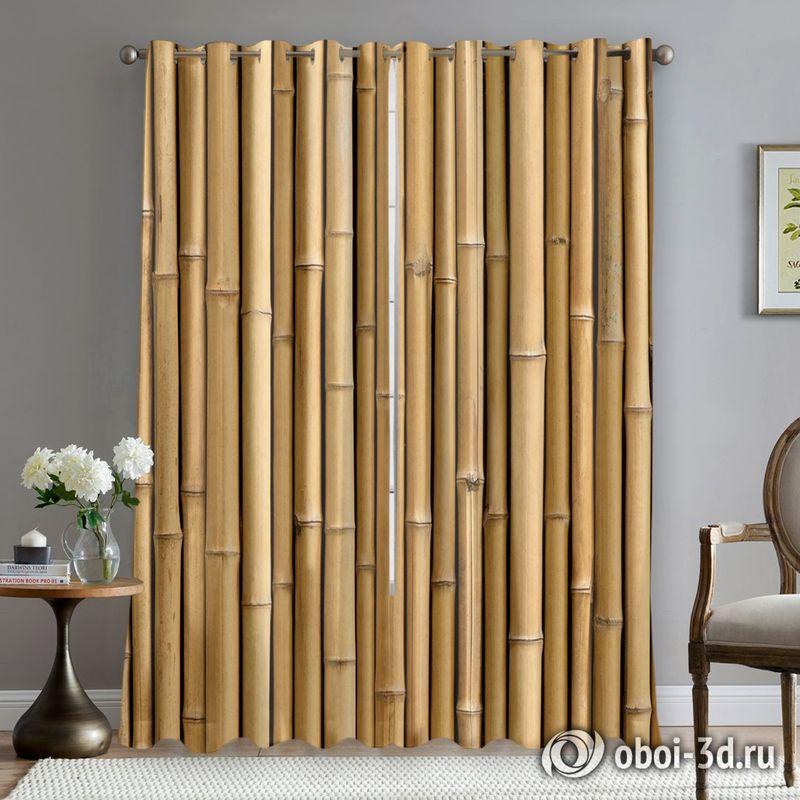 Фотошторы «Бамбуковая стена» вид 5