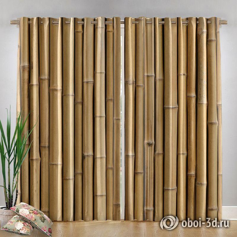 Фотошторы «Бамбуковая стена» вид 4
