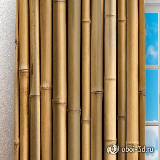 Фотошторы «Бамбуковая стена» вид 3