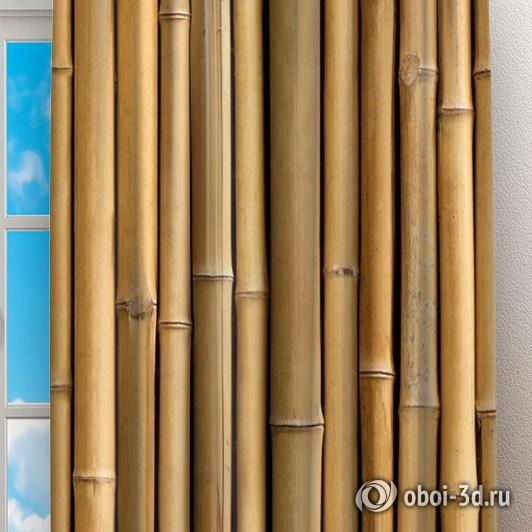 Фотошторы «Бамбуковая стена» вид 2