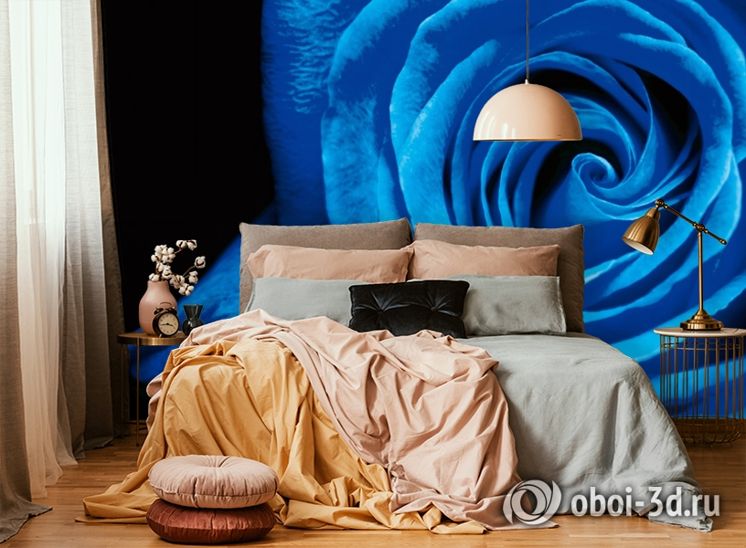 3D Фотообои  «Синяя роза» вид 6