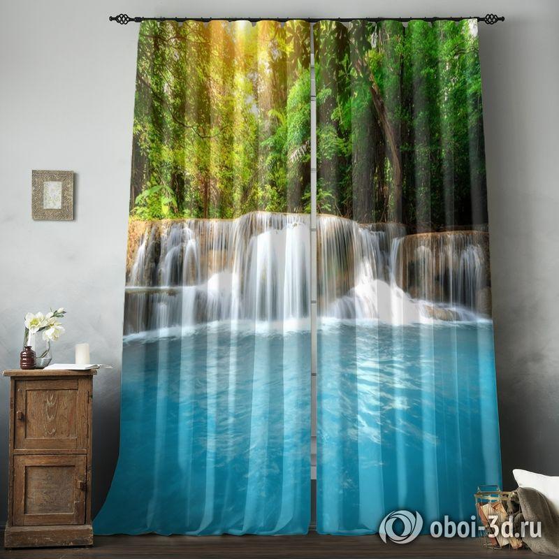 Фотошторы «Водопад с голубой водой» вид 8