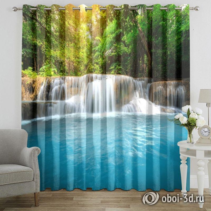 Фотошторы «Водопад с голубой водой» вид 7
