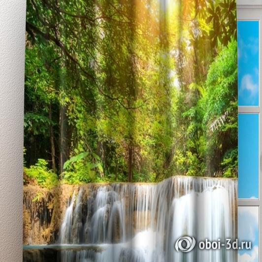 Фотошторы «Водопад с голубой водой» вид 3