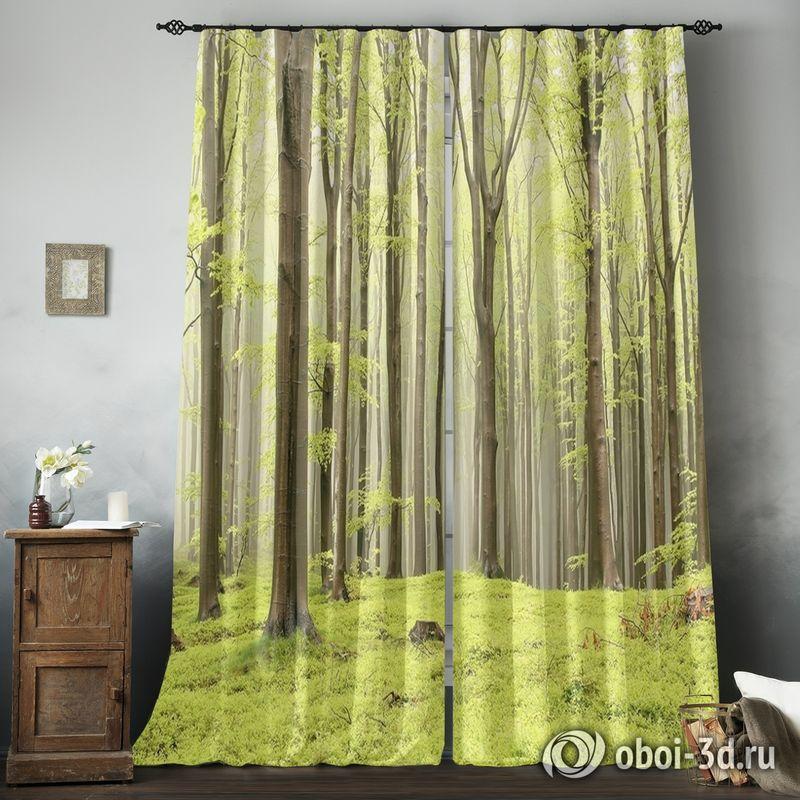 Фотошторы «Зеленый лес» вид 8