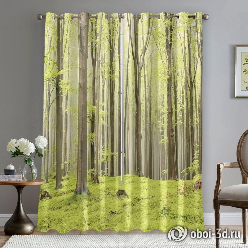 Фотошторы «Зеленый лес» вид 5