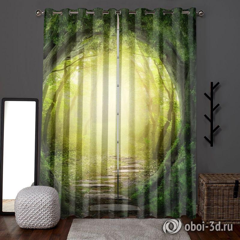 Фотошторы «Тоннель из деревьев» вид 6