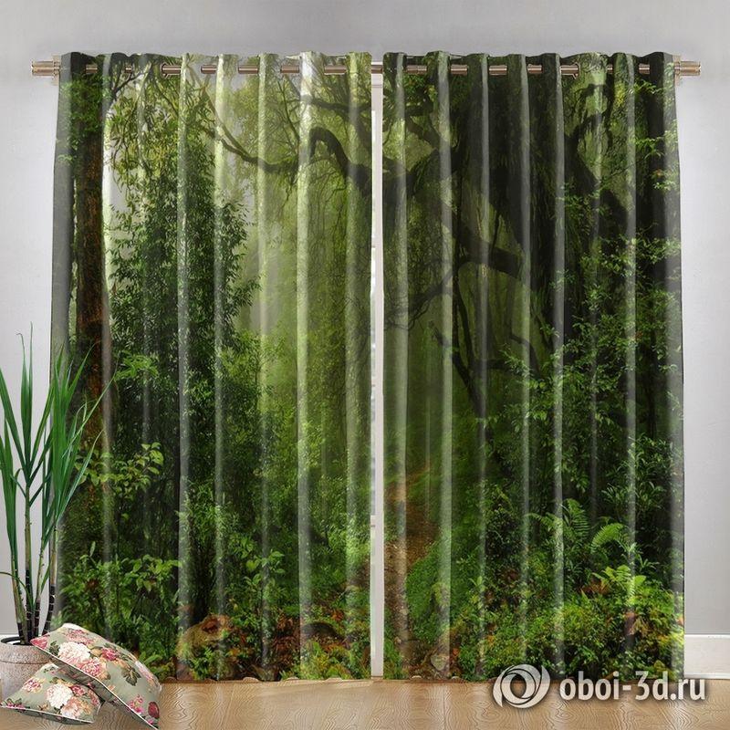 Фотошторы «Тропический лес» вид 4
