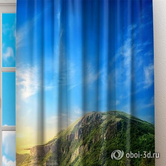 Фотошторы «Рассвет над холмами» вид 2