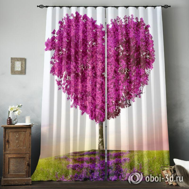 Фотошторы «Дерево - большое сердце» вид 8