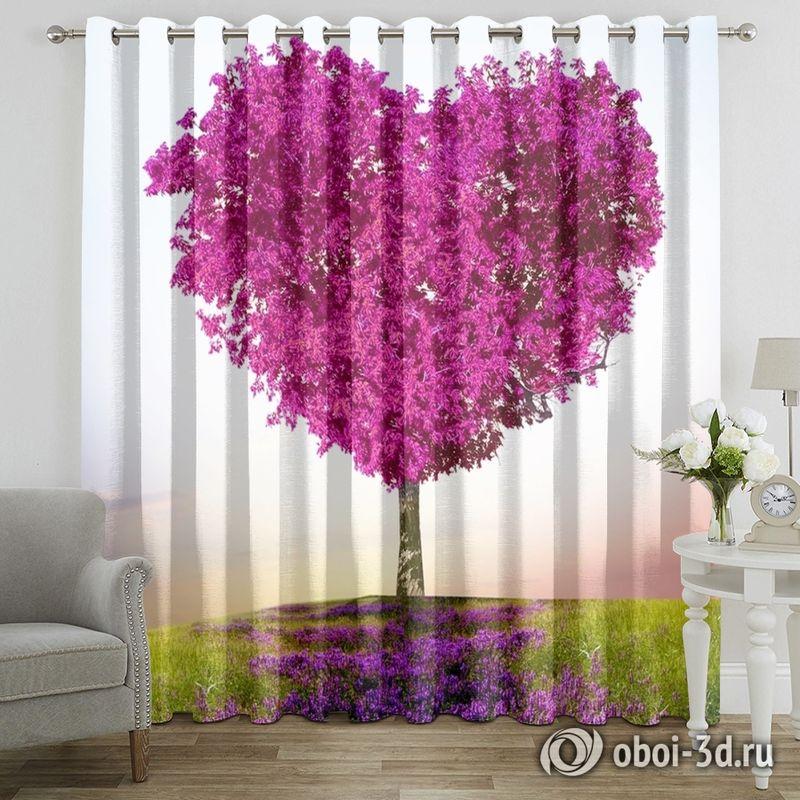 Фотошторы «Дерево - большое сердце» вид 7