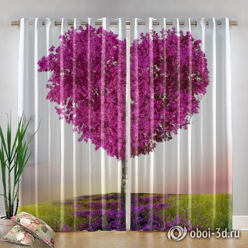Фотошторы «Дерево - большое сердце» вид 4