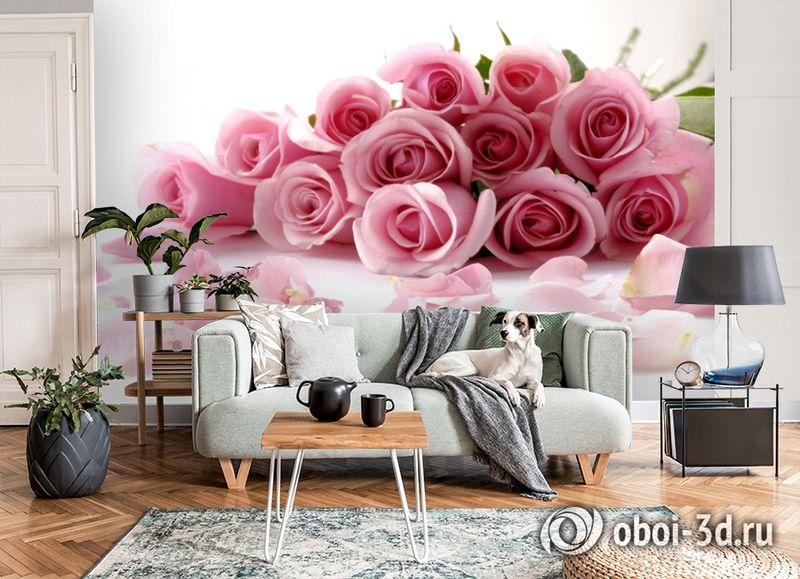 3D Фотообои  «Чайные розы»  вид 8