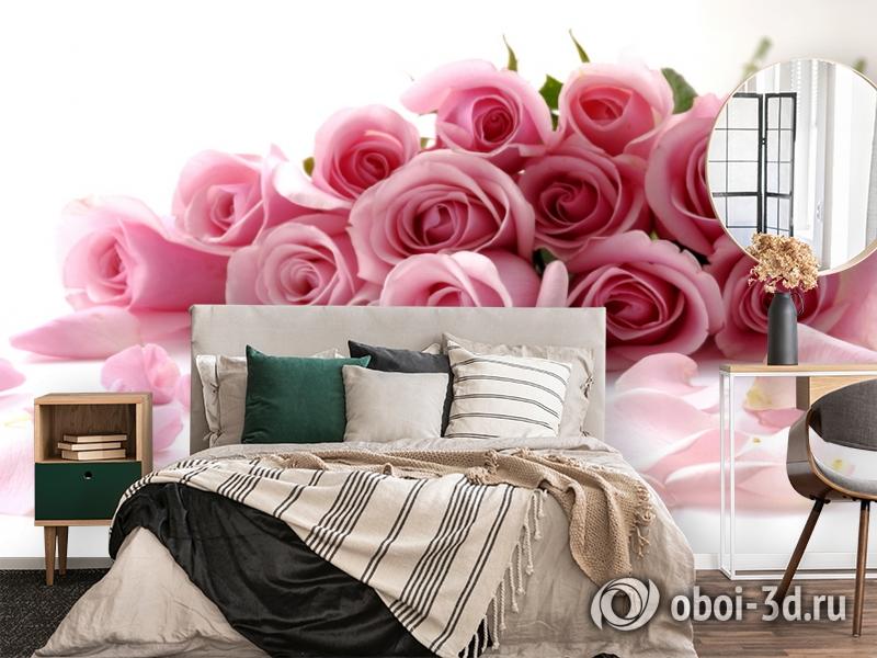 3D Фотообои  «Чайные розы»  вид 4